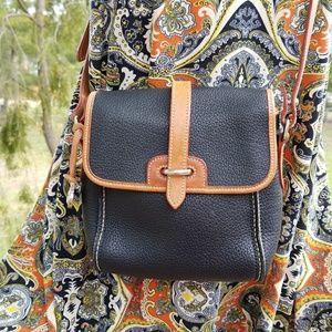 Vintage Dooney & Bourke Black Crossbody Bag